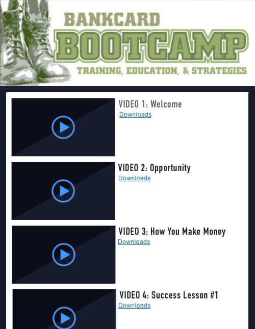Bankcard Bootcamp